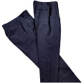 Window Service Women's Trousers Polyester Navy Blue Item: CNT